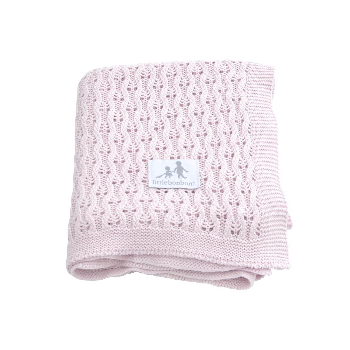 Pink Little Bonbon Baby Shawl Latice