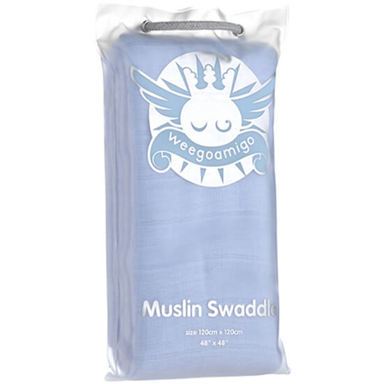 Blue Weegoamigo Muslin Coloured Swaddle