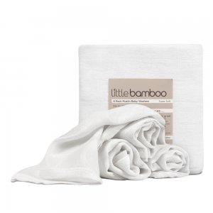 Little Bamboo Muslin Wash Cloth 6 Pack