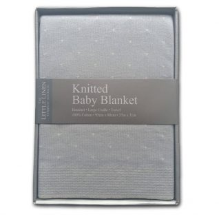 Little Linen Company Knitted Bassinet Blanket - Cotton Tail