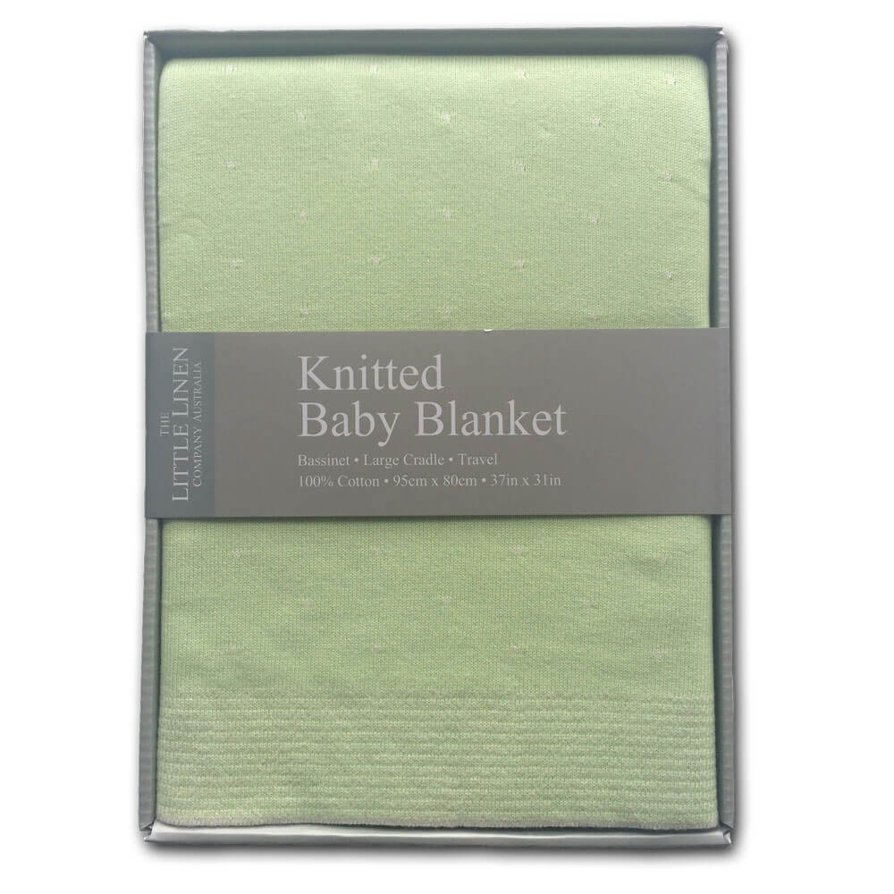 Little Linen Company Knitted Bassinet Blanket - Wild Woods