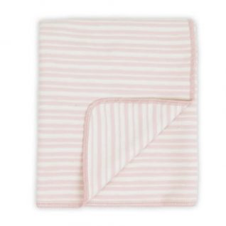 Pink Little Linen Company Flannel Bassinet Blanket