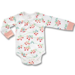 bluebirds long sleeve bodysuit organic cotton