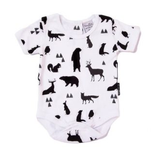 Woodland Silhouette Short Sleeve Onesie Bodysuit Organic Cotton