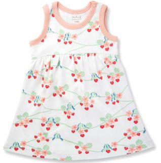 Bluebirds Dress Organic Cotton