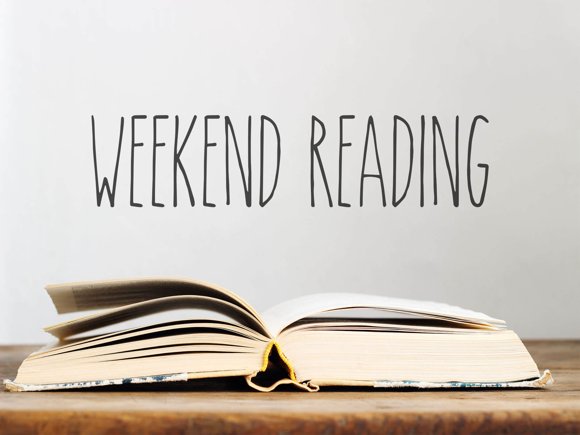 weekend reading with books